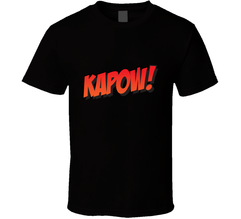 Kapow Comic Superhero T Shirt