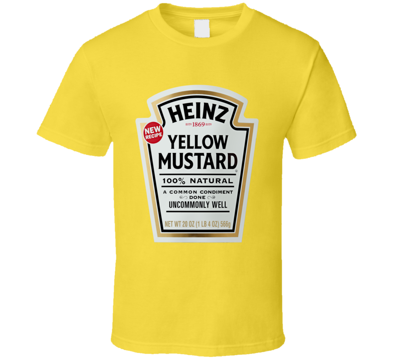 Heinz Yellow Mustard Food Fan T Shirt