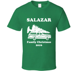 Salazar Personalized Last Name Family Christmas 2016 T Shirt