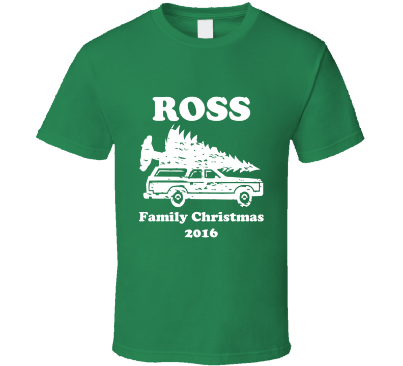 Ross Personalized Last Name Family Christmas 2016 T Shirt